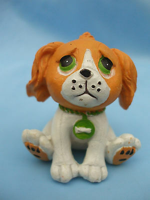 Collectable PMS Green Eyed Brown and White Dog Ornament