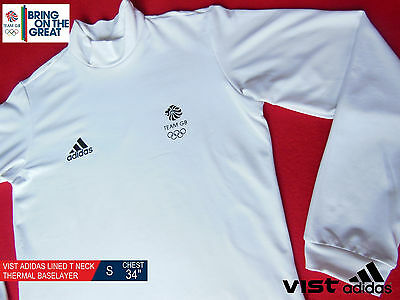 Vist Adidas Team Gb Issue- Elite Athlete Lined T-Neck Thermal Baselayer Size  S