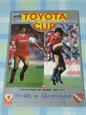 Liverpool v Independiente 1984 FIFA Toyota Club World Cup Program
