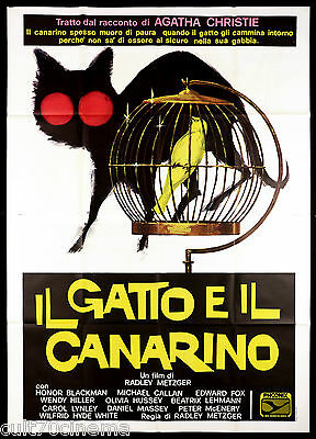 Il Gatto E Il Canarino Manifesto Cinema Giallo 1978 Cat Canary Movie Poster 4F