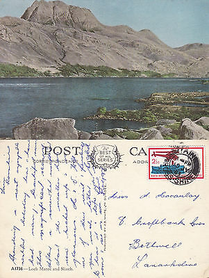 1965 Loch Maree & Slioch Wester Ross Scotland Colour Postcard