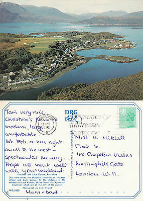 1982 Plockton & Loch Carron Ross Shire Scotland Colour Postcard