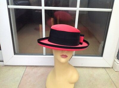 Ladies Vintage Coral Hat For Weddings/races/special Occasions,by Kangol,new Tags
