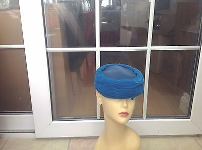 Ladies Vintage Turquoise Pillbox Hat For Weddings/races/special Occasion,pristin