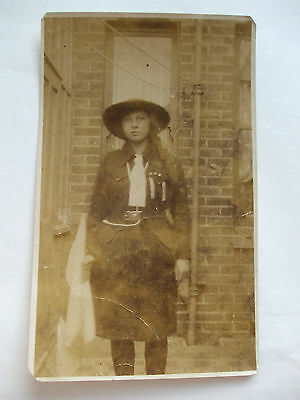 Photograph 1920 Girl In Girl Guides? Outfit