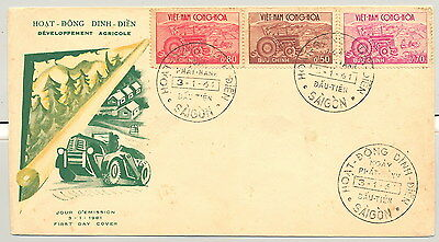 Fdc Envelope South Viet Nam Agriculture Activities