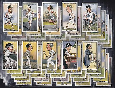 Churchman, Sporting Celebrities, Reprint Set Of 50 Issued In 1997.