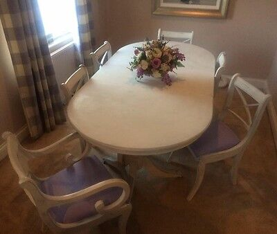 Shabby Chic Dinning Table And 6 Chairs