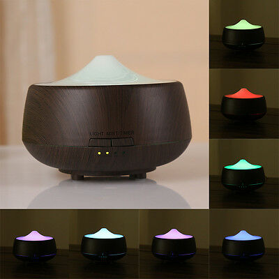 New LED Aroma Diffuser Essential Oil Ultrasonic Air Humidifier Purifier Atomizer
