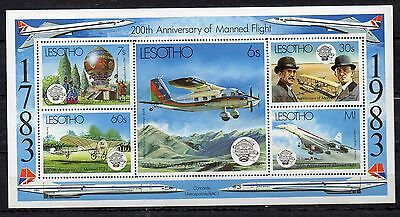 Lesotho Stamp Sheets 1983 Bicentenary Of Manned Flight Ms549 Mnh
