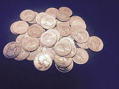 $11.25 US 90% JUNK Silver Circulated Coins Washington Quarters  Pre 1965 ONE 1