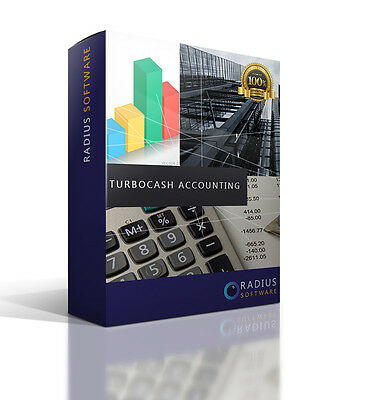 Turbocash Business Accounting Software  ,VAT, Tax. Full Software Program