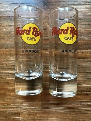 "Two Hard Rock Cafe 4"" Shot Glasses London"