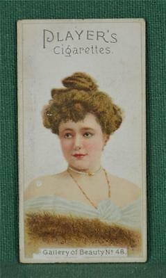 Players Cigarette Card Gallery Of Beauty No 48  (C126)