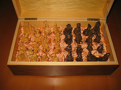 Vintage hand carved chess set - from Germany