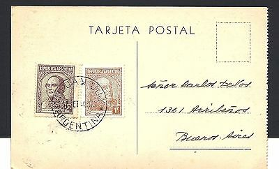 1935 Argentina Post card to Buenos Aires