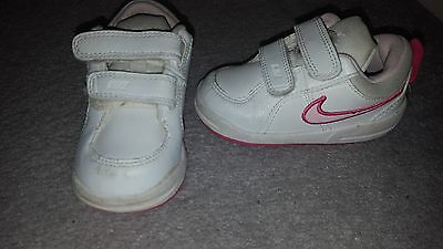 Nike trainers - White and pink infant size UK 5.5