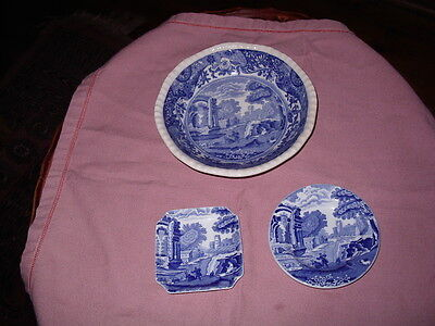 Spode Plate And Two Pin Dishes