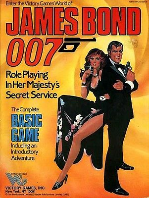 JAMES BOND 007 BASIC GAME EXC+! Role Playing in Her Majesty's Secret Service