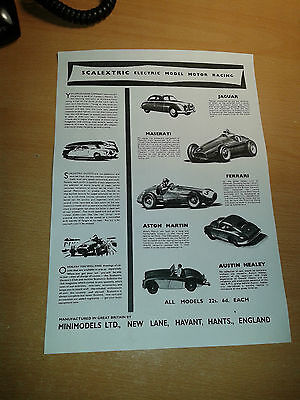 Scalextric Early Tinplate Catalogue 1958