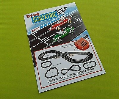 1960s First Spanish Scalextric Catalogue 1962