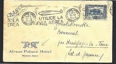 1926 Argentina Cover to Denmark