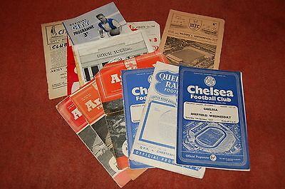 12 football programmes from the 1950s
