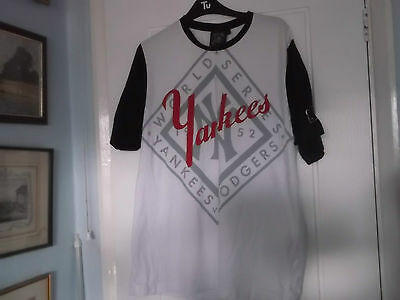 New York Yankees Baseball Team T-Shirt Large Size Majestic Make