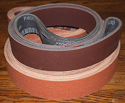 2 x 48 Sanding Belt Knifemaker Variety Kit Ceramic & A/O Flex  (9pc) #1