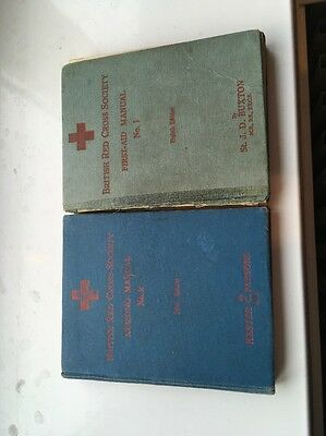 Two Vintage British Red Cross Society Manuals