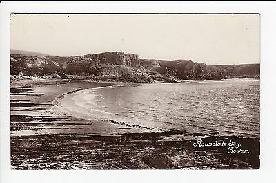 Wales Gower Meuselade Bay Real Photo Postcard