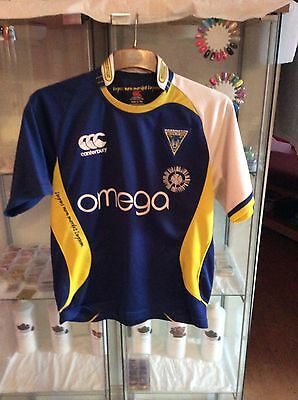 warrington wolves rugby shirt size age 14