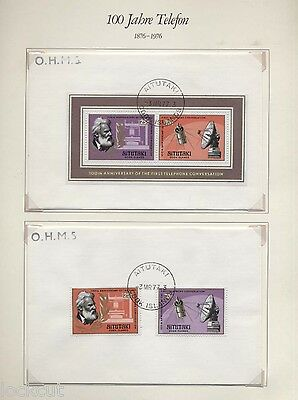 Mini Sheets Stamps Covers 100 Anniversary Of Telephone  44 Posted  With Sets