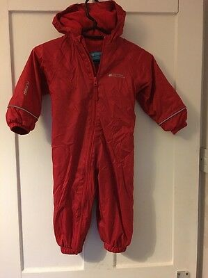 Toddler Snowsuit Waterproof Fleece Lined Coverall. Mountain Warehouse. 12-18 M