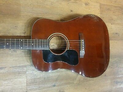 1985/6 Guild D-25 m Left handed with Fishman pickup electro acoustic Inc case