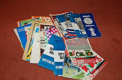 72  football programmes from the 1970s