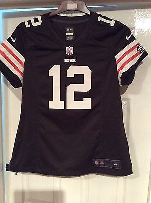 nfl browns football shirt size large girl - mccoy