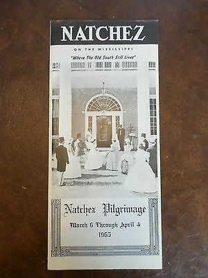 1965 Natchez Mississippi Old South Ante-Bellum Home Tours Confederate Pilgrimage