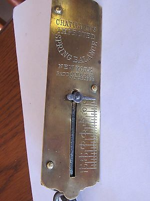 Chatillons Brass Spring Balance Hanging Scale Steampunk