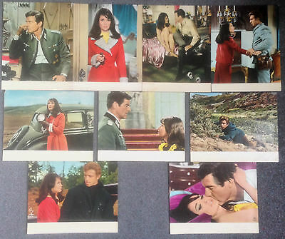 SET OF 9 ORIGINAL LOBBY CARDS IN ENEMY COUNTRY Tony Francisco, Guy Stockwell