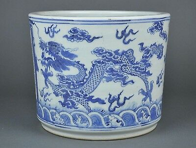 AN ANTIQUE19th C. CHINESE TONGZHI BLUE & WHITE PORCELAIN VASE WITH INSCRIPTION.