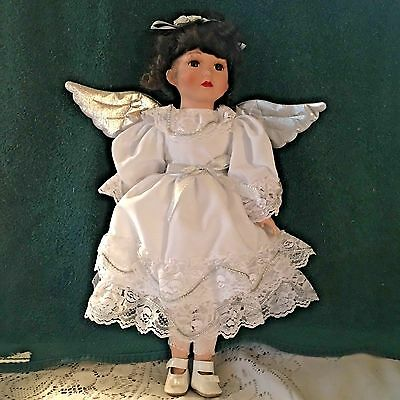 "Beautiful Vintage  17""  Porcelain Angel Doll"