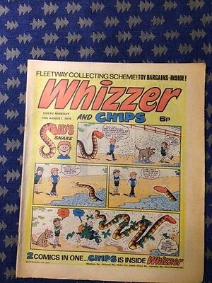 Whizzer and Chips vintage comic 16th August 1975