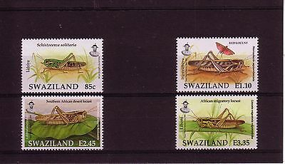 Swaziland 2005 Locusts & Grasshoppers 4v MNH