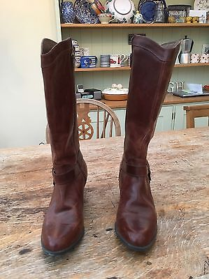 Ladies Brown Leather Boots size 5.5