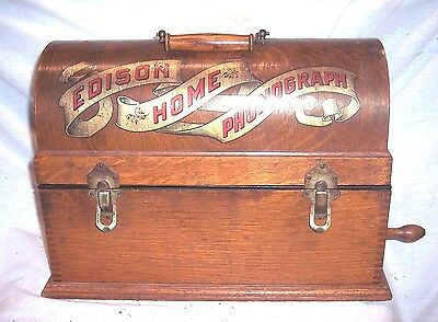 Early Edison Home Suitcase Phonograph Serial #9118 , Automatic Reproducer