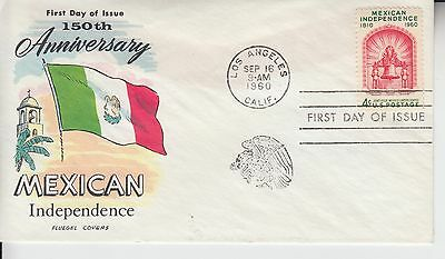 1960 #1157 Mexican Independence Fdc Fluegel Cachet