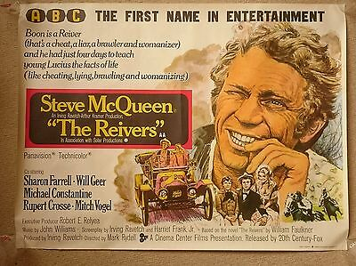 The Reivers (1969) ABC Rolled Cinema Quad Poster Steve McQueen