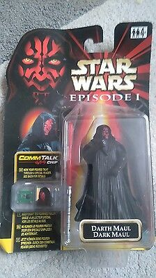 Star wars Darth Maul with CommTalk Chip mint in box