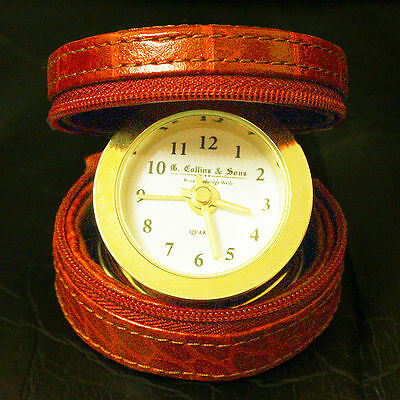 G. Collins & Sons (Royal Jewellers) Travel Alarm Clock With Case